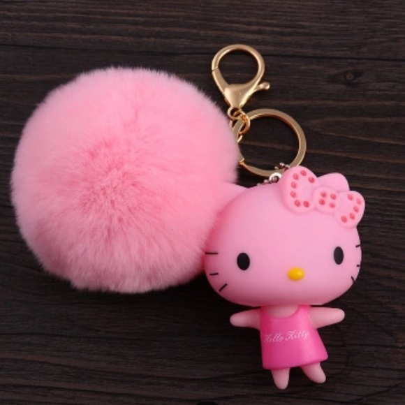 Accessories Hello Kitty Pom Pom Key Chain Pink Poshmark